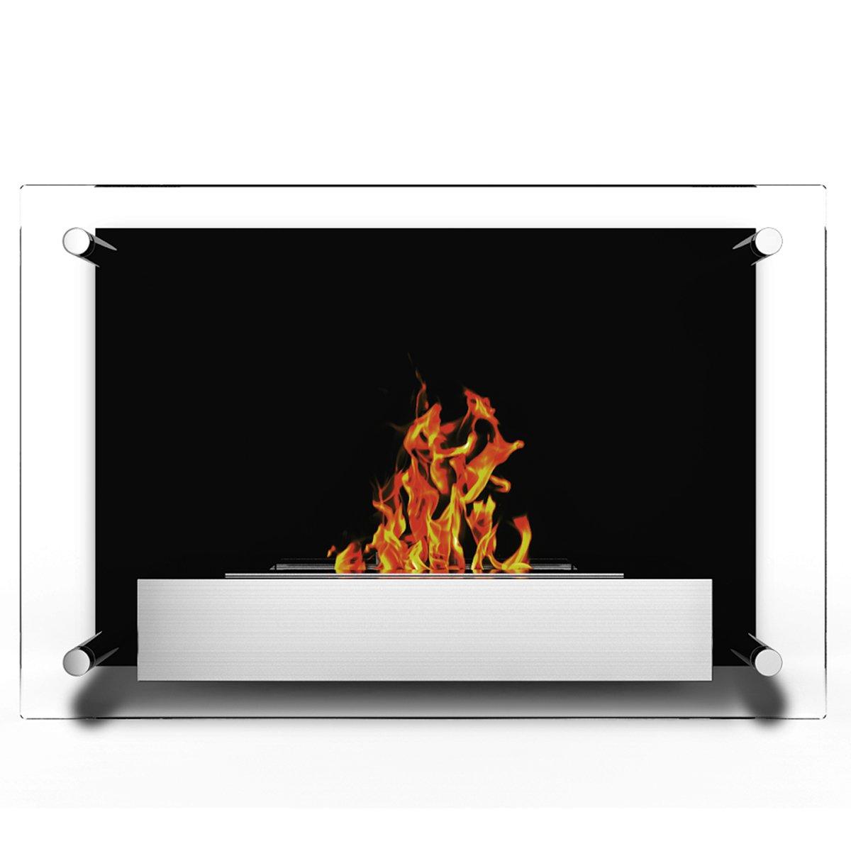 Elite Flame Milan Ventless Bio Ethanol Wall Mounted Fireplace by Regal Flame