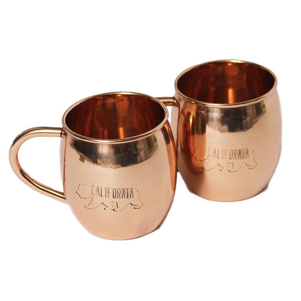 16 Ounce Set of 2 California State Gift Set Moscow Mule Mugs Bear
