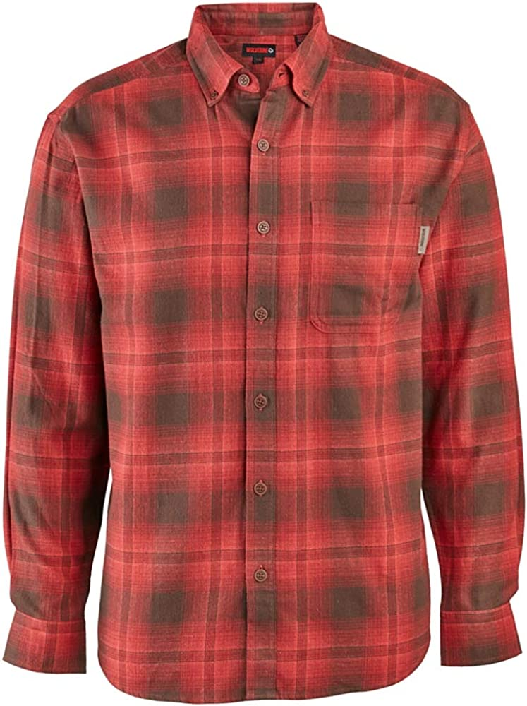 WOLVERINE Mens Hammond Long Sleeve Two Sided Brushed Flannel Shirt