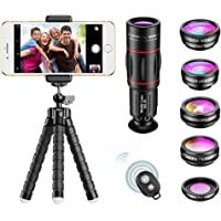 APEXEL Phone Camera Lens with 18x Telephoto Lens+Fisheye,Macro/Wide Angle Lens+Star,Kaleidoscope Filter+Tripod and…