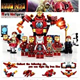 レゴ LEGO 互換性有り Marvel Avengers マーブル アベンジャーズ ミニフィグ ミニフィギア 8体セット アイアンマン 変身アーマ付き  並行輸入品