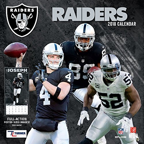 2018 Oakland Raiders Wall Calendar