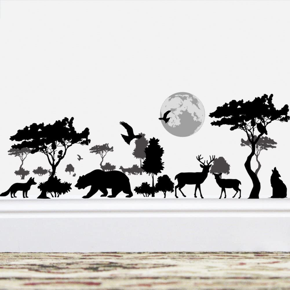 Details about  /Baby Monkey Tree Hang Animal Animals Wall Art Sticker for Kids Home Room Decals