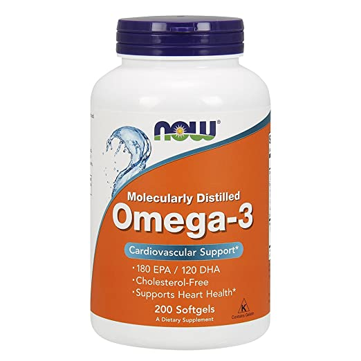 Product thumbnail for NOW Omega-3 1000mg, 200 Soft Gels