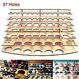 CAVEEN Paint Stand 57 Pots Wooden Acrylic Color Paints Bottle Storage Rack Holder Modular Organizer