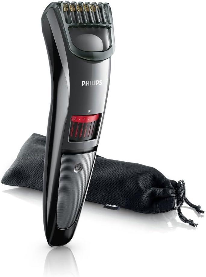 Philips QT4015/16 - Barbero sin cable Serie 3000 para barba de dos días, con cuchillas de titanio, 20 posiciones de ...