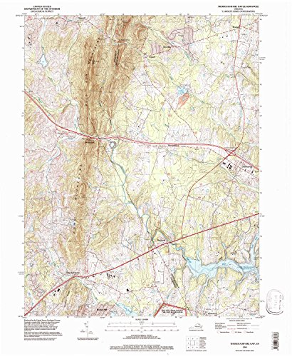 Thoroughfare Gap VA topo map, 1:24000 scale, 7.5 X 7.5 Minute, Historical, 1994, updated 1998, 27 x 22.1 IN - - Hills Buckland