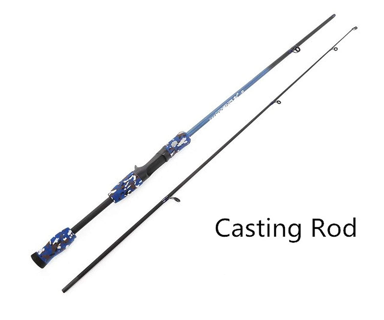 Ablaze Jin キャスティング/スピニング釣り竿 3色 1.8メートル ポータブル釣り竿 EVAハンドルテスト M テストファイバー カモフラージュルアーロッド 1.8 M パープル B07MGKWT2F