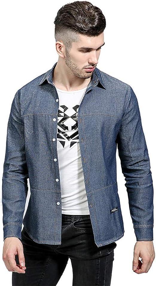 Camisa de Vestir Slim fit para Hombre Camisa de Corte Cruzado de línea Grande para Hombres,