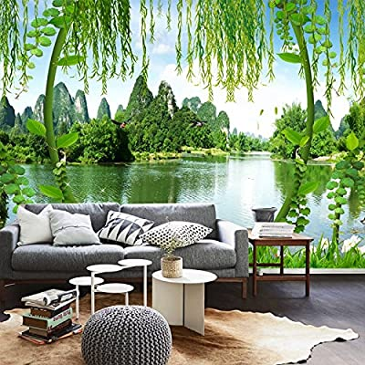 XLi-You 3D Large Murals In Guilin Tv Sofa Bed In The Living Room Stereo Background Wallpaper Murals.