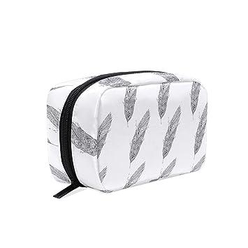 Amazon.com: Bolsas de cosméticos para mujer de plumas ...