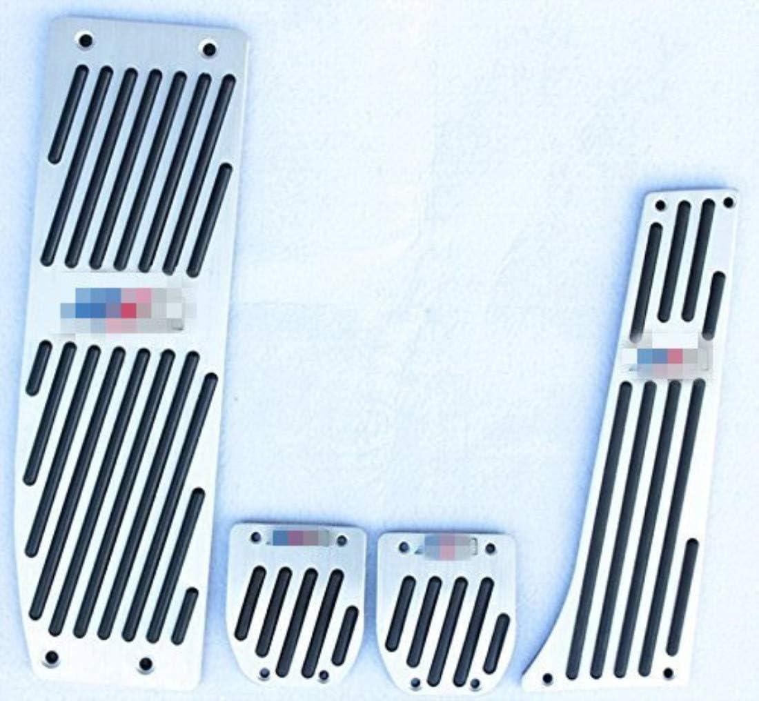 E91 E36 E46 E90 Cubierta Antideslizante para Pedal de Freno de Combustible de Coche para E30 Plata E87 E92,E93