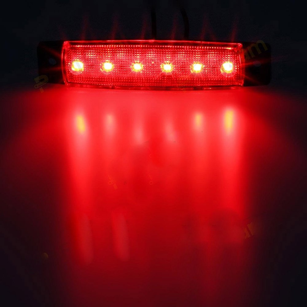 Truck cab marker lights Green Marker light amber RV marker light Rear side marker light YUK 10 pcs 3.8 6 LED Side Led Marker Trailer marker lights for trucks