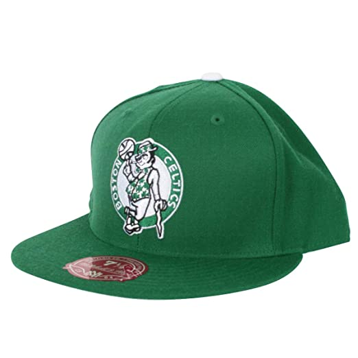 84143075e290d3 NBA Mitchell & Ness Boston Celtics Kelly Green Vintage Logo Fitted Hat (7  ...