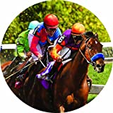 Accent Magnet-Race Horse - Auto - Home - Kitchen -Yard -Six (6) Inch - Made in USA - Licensed , Copyrighted by Custom Decor Inc.