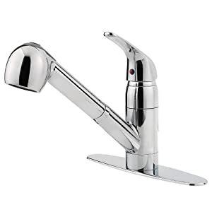 Pfister Pfirst Series 1-Handle Pull-Out Kitchen Faucet, Polished Chrome