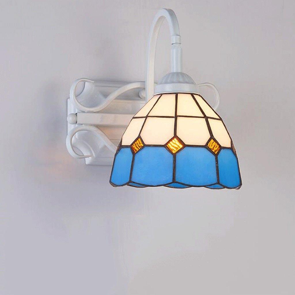 Wandleuchten GAOLILI Mittelmeer Spiegel Front Lampen Schlafzimmer Flur Flur Treppen Wohnzimmer Kreative Restaurant Eisen E27