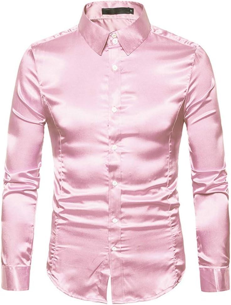 Dfghbn Camisa de Manga Larga de Color Liso de Color sólido ...