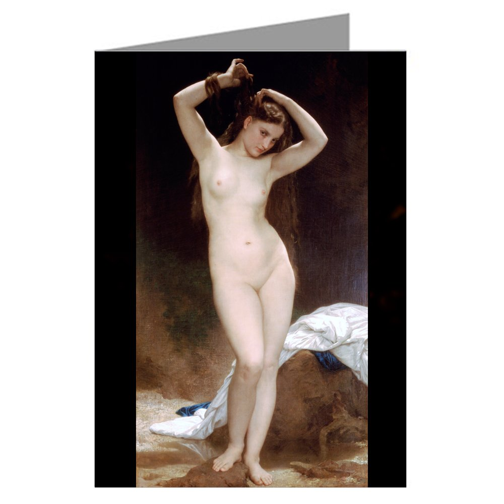 Classic Fine Art Cards Twelve Note Card Set of William Adolphe Bouguereau - 1870 painting Titled Bather
