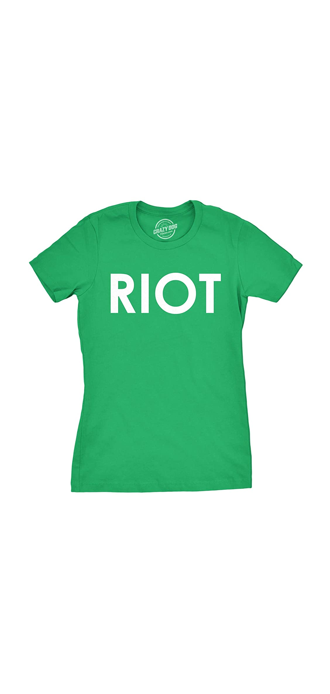 Womens Riot T Shirt Funny Shirt For Ladies Political Novelty