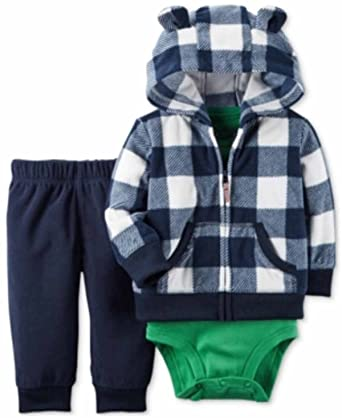 a5315d871 Amazon.com: Carters Baby Boys 3 Piece Micro Set, Hooded Jacket 24M ...