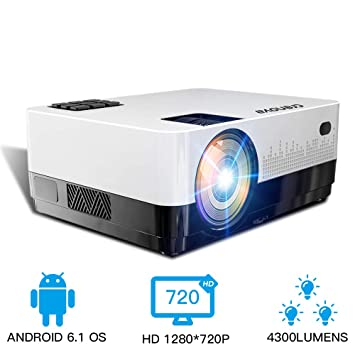 HM2 Mini proyector HD 1080P, Proyector de Video WiFi Bluetooth ...