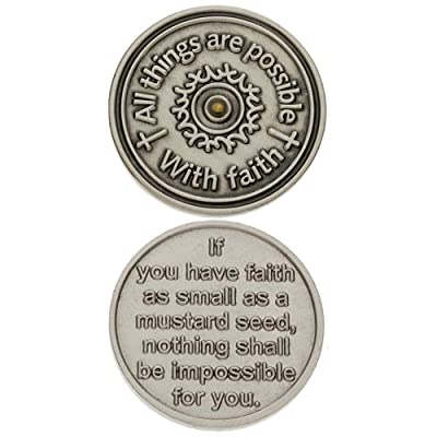 Faith Mustard Seed Coin and Faith Card: Toys & Games