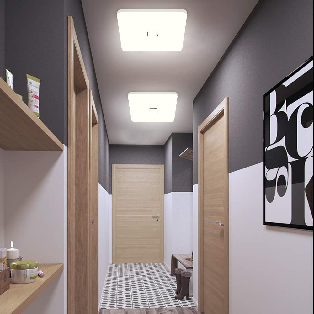 Modern 24w 30cmx30cm Square Led Ceiling Light Led Ceiling: Öuesen 24W LED Ceiling Lights Modern Square Thin LED