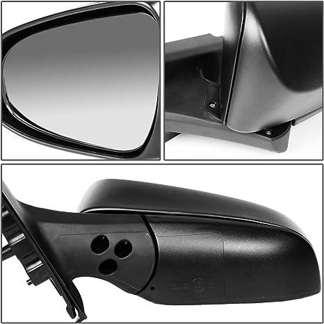 Manual Textured Black Mirror L Left Driver Side for 12-13 Toyota Yaris Hatchback