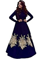 Royal Export women's Blue Embroidered gown