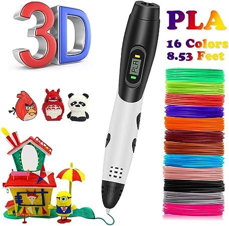 Penna 3D Silicone Consiglio dellillustrazione Mat 3D Penna Stencil Libro 3D Penna Strumenti di Disegno Blu