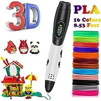 kainuoa Stylo 3D, Stylo 3D Impression Stylo 3D Professionnel avec Voix Intelligente, Dessin Stylo 3D Kit pour Enfant Adulte, Filament PLA de 1.75 mm, Cadeau pour Noël