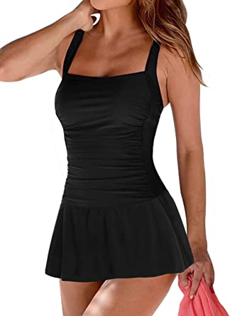 Elapsy - Bañador de una Pieza con Falda para Mujer: Amazon.es ...