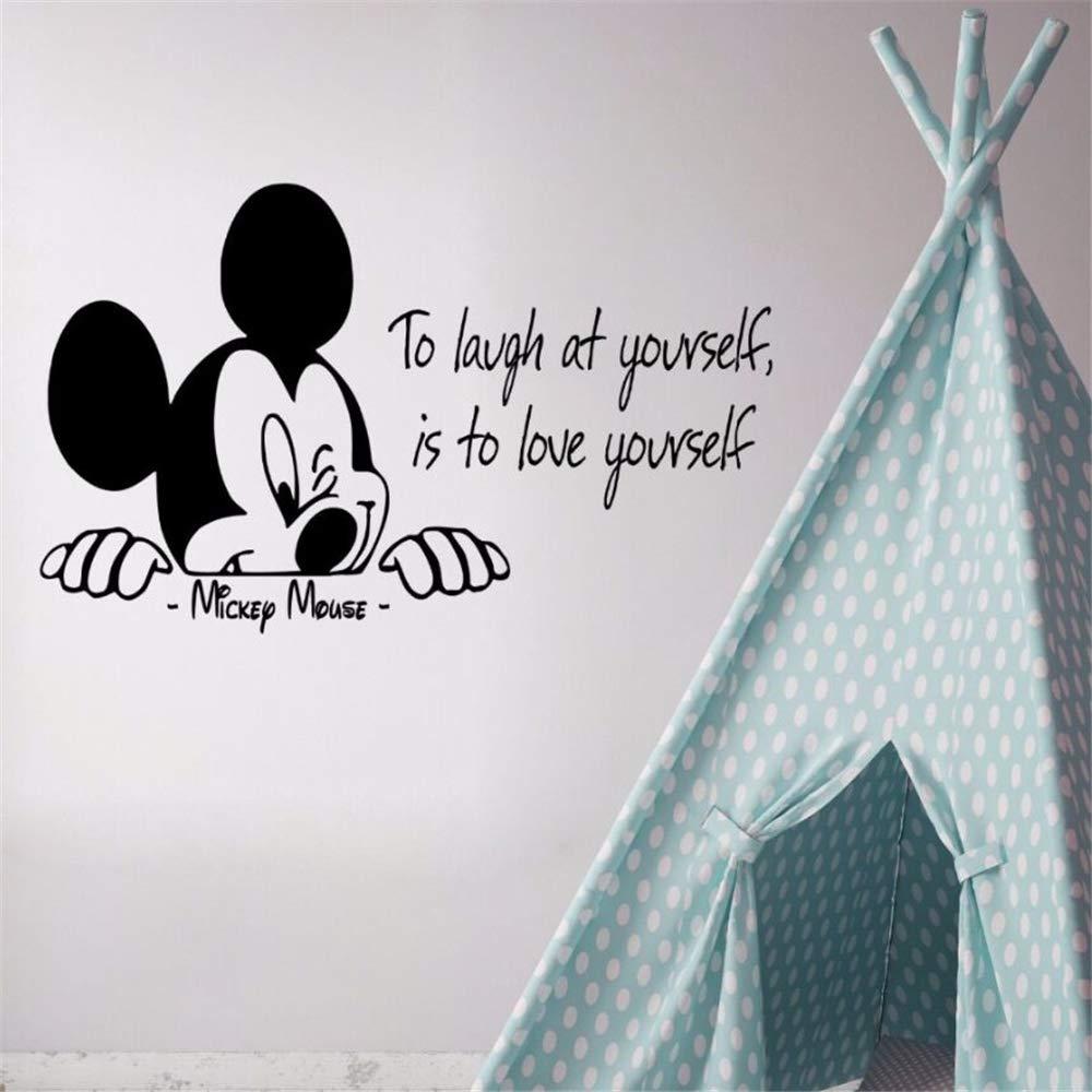etiqueta de la pared Etiqueta de la pared de Mickey Mouse Tatuajes ...