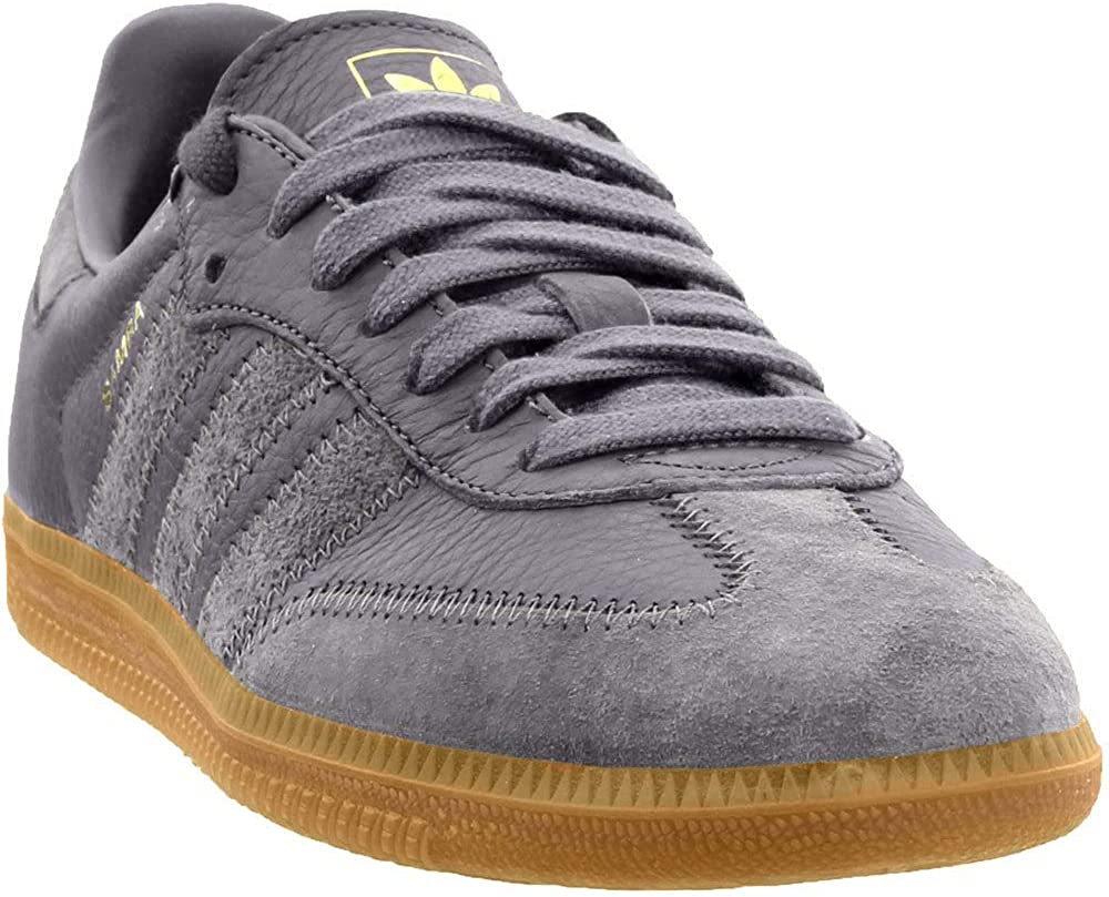 adidas Samba OG FT Mens Shoes Grey Three/Grey Three/Gold Metallic bd7963  (9.5 M US)