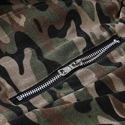 Spbamboo Mens Camouflage Fold Pocket Slim Fit Casual Sport Overall Trouser Pants by Spbamboo (Image #4)