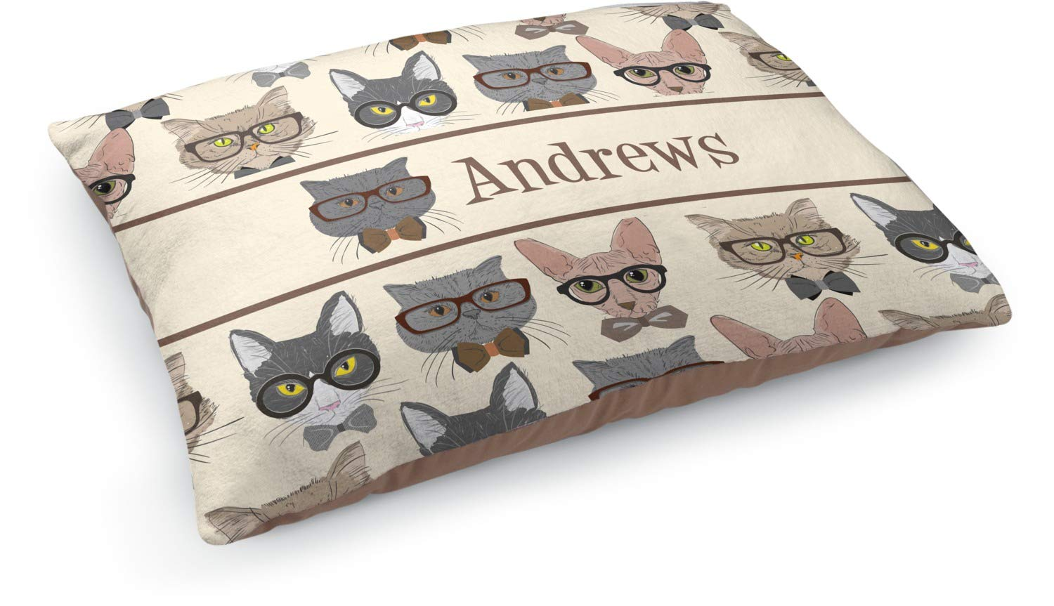 YouCustomizeIt Hipster Cats Dog Bed (Personalized)