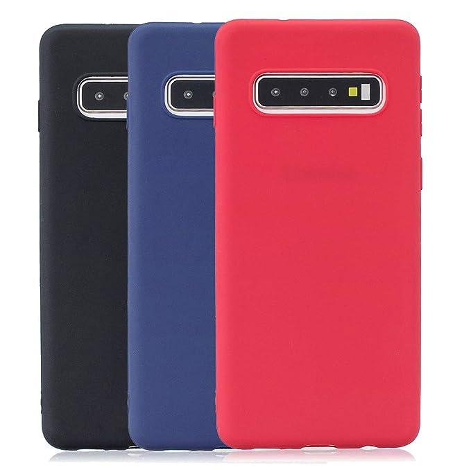 Funda de silicona con bordes de colores para Samsung Galaxy s10