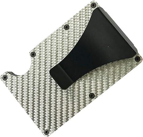 Pince /à Billets Portefeuille Minimaliste Porte-Cartes de cr/édit pour Les Femmes Hommes Slim Wallet Case Aluminium RFID Blocage Avant Poche Porte-Cartes de cr/édit Cash Clip