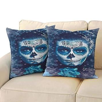 Amazon.com: Living Room Sofa Hug Pillowcase Sugar Skull ...