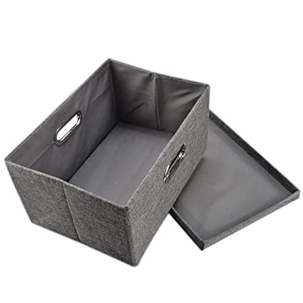 Storage Box, Yamix Fabric Collapsible Storage Containers Cloth Organizers  Basket Bin Shelf Storage Bin Closet