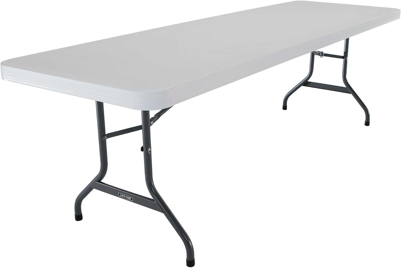 - Amazon.com: Lifetime 42980 Folding Utility Table , 8 Feet, White