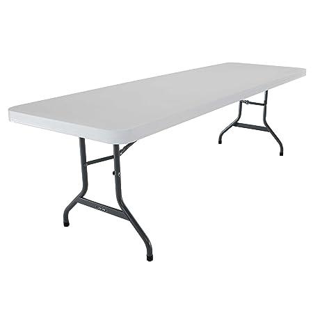 Lifetime 42980 Folding Utility Table , 8 Feet, White Granite, Pack of 4