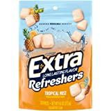 EXTRA Refreshers Mist SUP Chewing Gum, Tropical, 9.6 Ounce (Pack of 6)