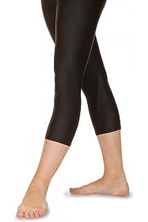 9a30df988722a Roch Valley Crop Calf Length 3 4 Leggings Nylon Lycra Shiny Black-Dance  Gymnastics