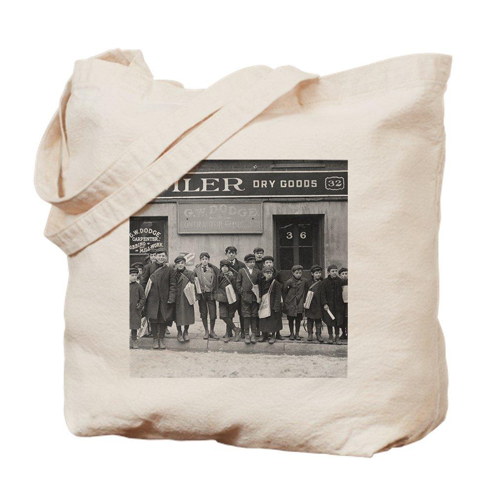 CafePress – Delivering the Sundayペーパー、1909 – ナチュラルキャンバストートバッグ、布ショッピングバッグ B00WJENCI2