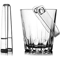 QXYAmj European Imported Glass Ice Bucket Ktv Bar Commercial Ice Bucket Cooler Beer Cold Bucket For Garden/Table/Bar…