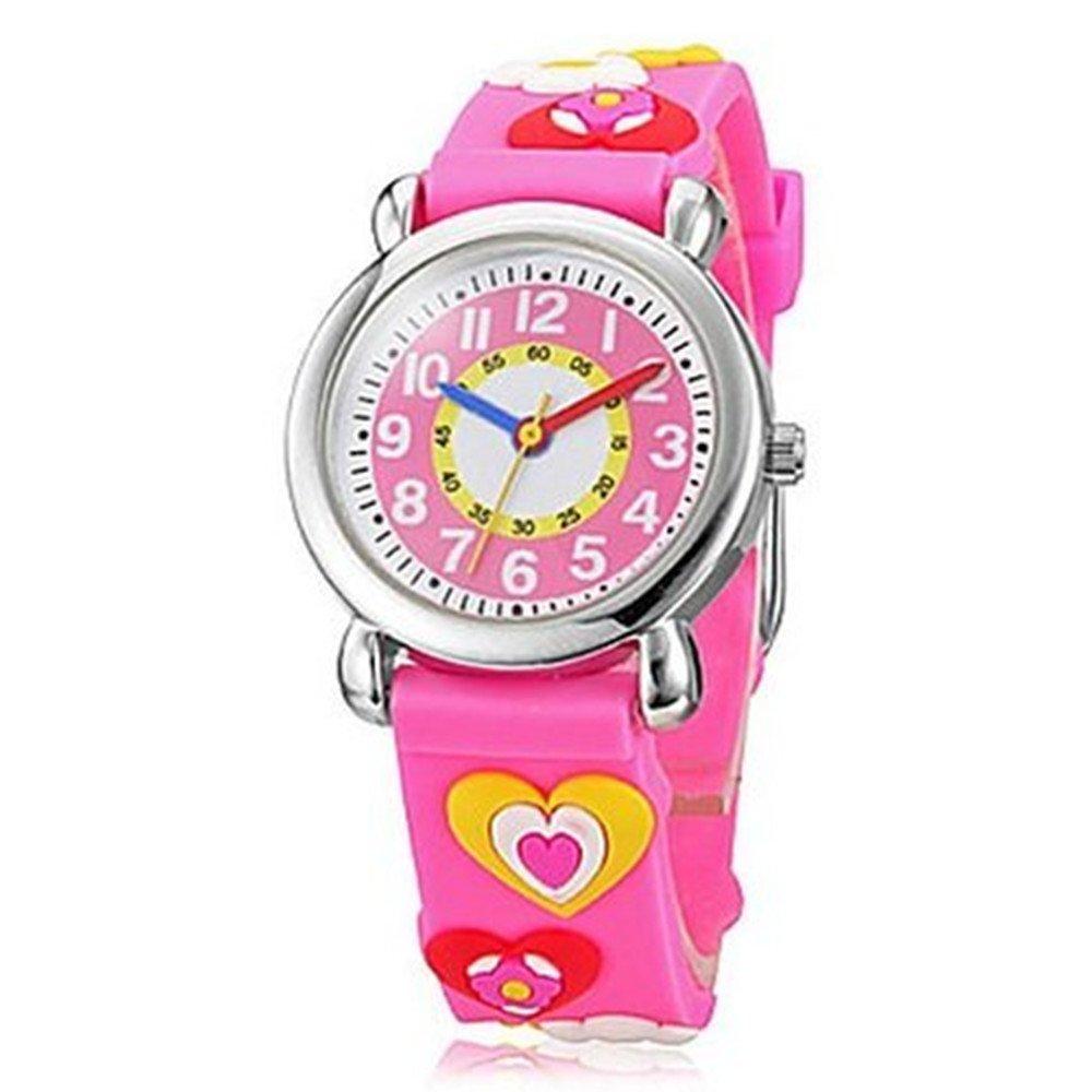 Fashion Brand Quartz Wrist Watch Baby Children Girls Boys Watch Hearts Design Waterproof Watches