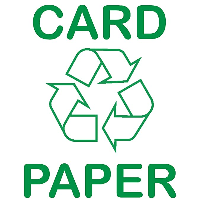 1 X Tarjeta Paper Sticker Recycle Logo Sign Reciclaje Basura