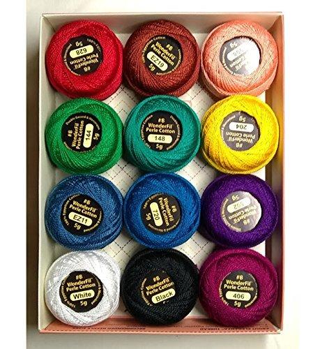 Wonderfil Eleganza #8 Perle Cotton Embroidery Thread Sampler Collection, ''Kaleidoscope'' by Eleganza